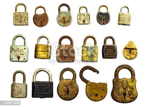 Antique Locks Isolated On White