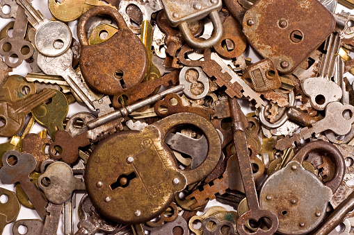 Antique Locks Keys Background Stock Photo & More Pictures of Antique
