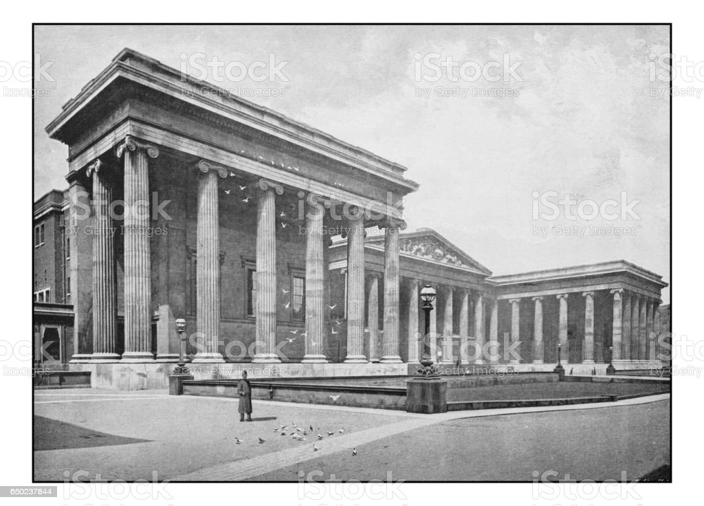 Antique London's photographs: British Museum stock photo