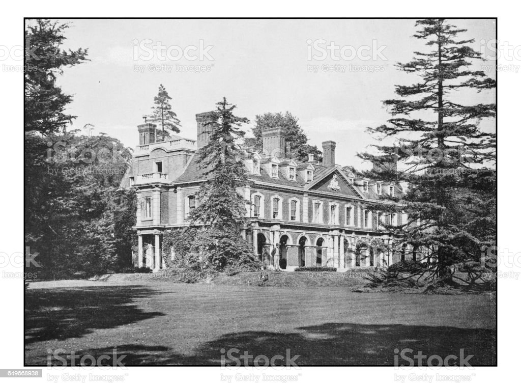 Antique London's photographs: Bromley Palace stock photo