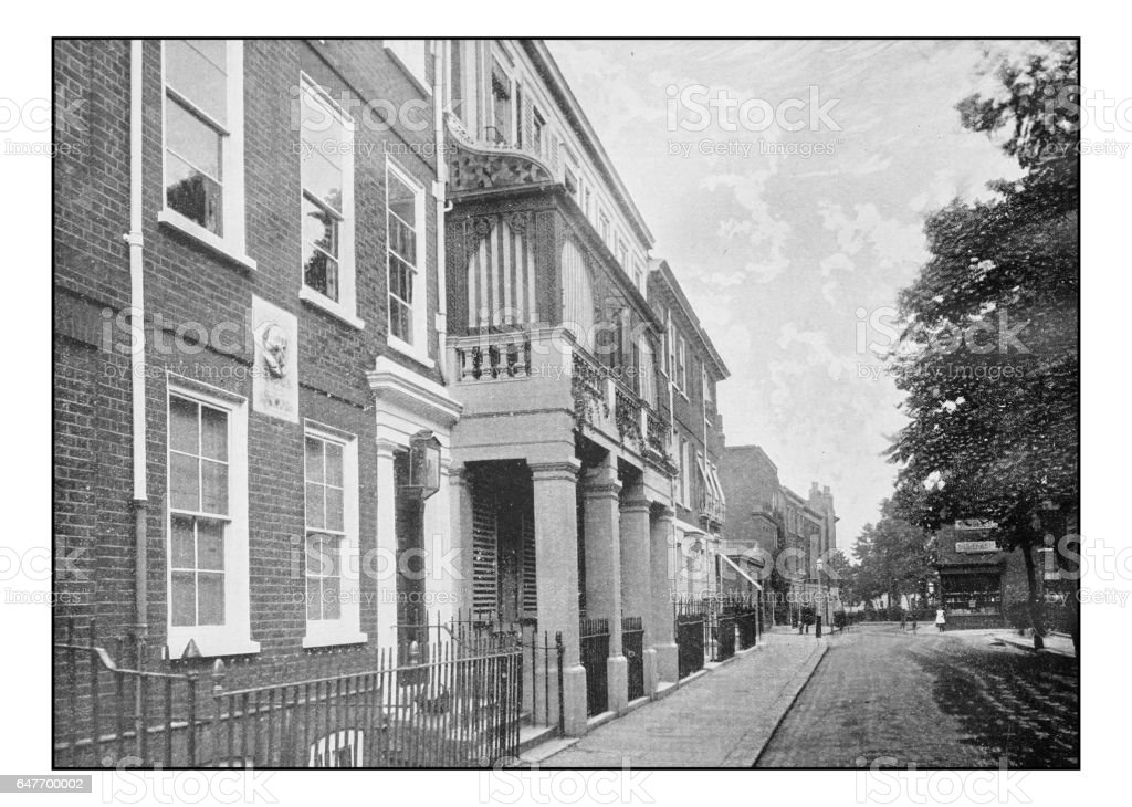 Antique London's photographs: Carlyle House stock photo