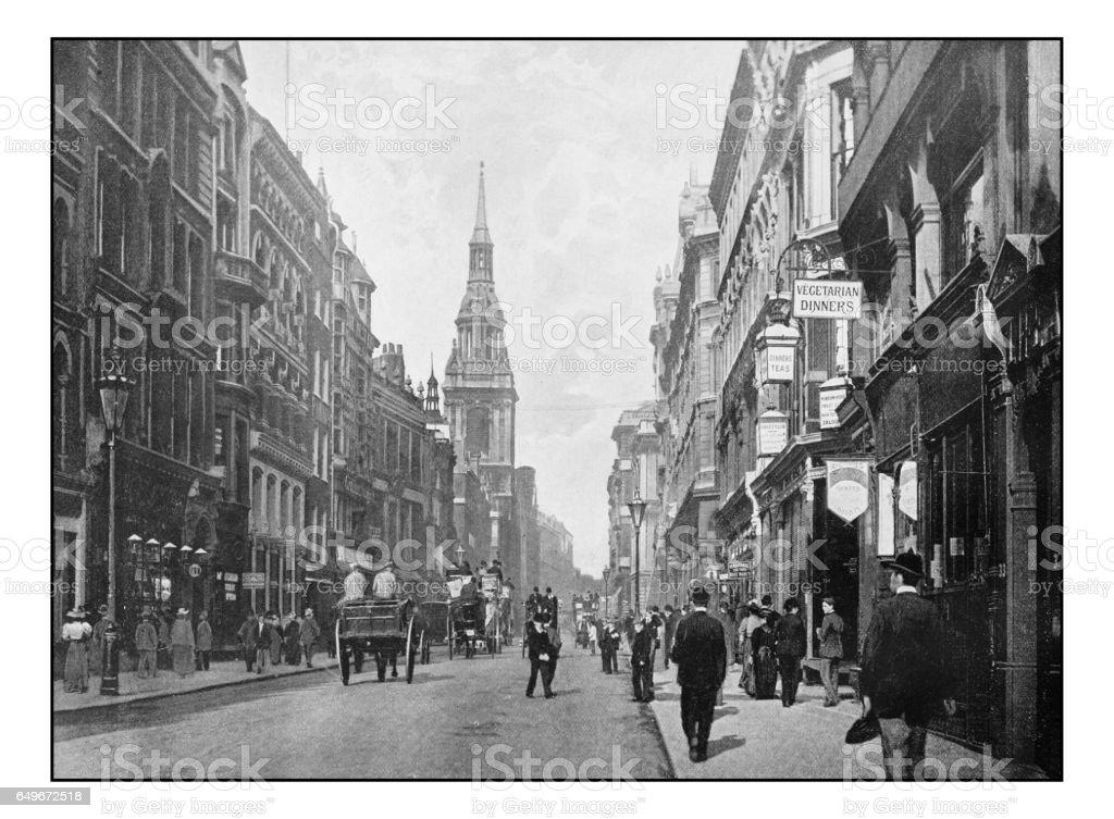 Antique London's photographs: Cheapside, Bow Church stock photo