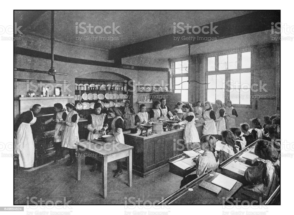 Antique London's photographs: Cooking class stock photo