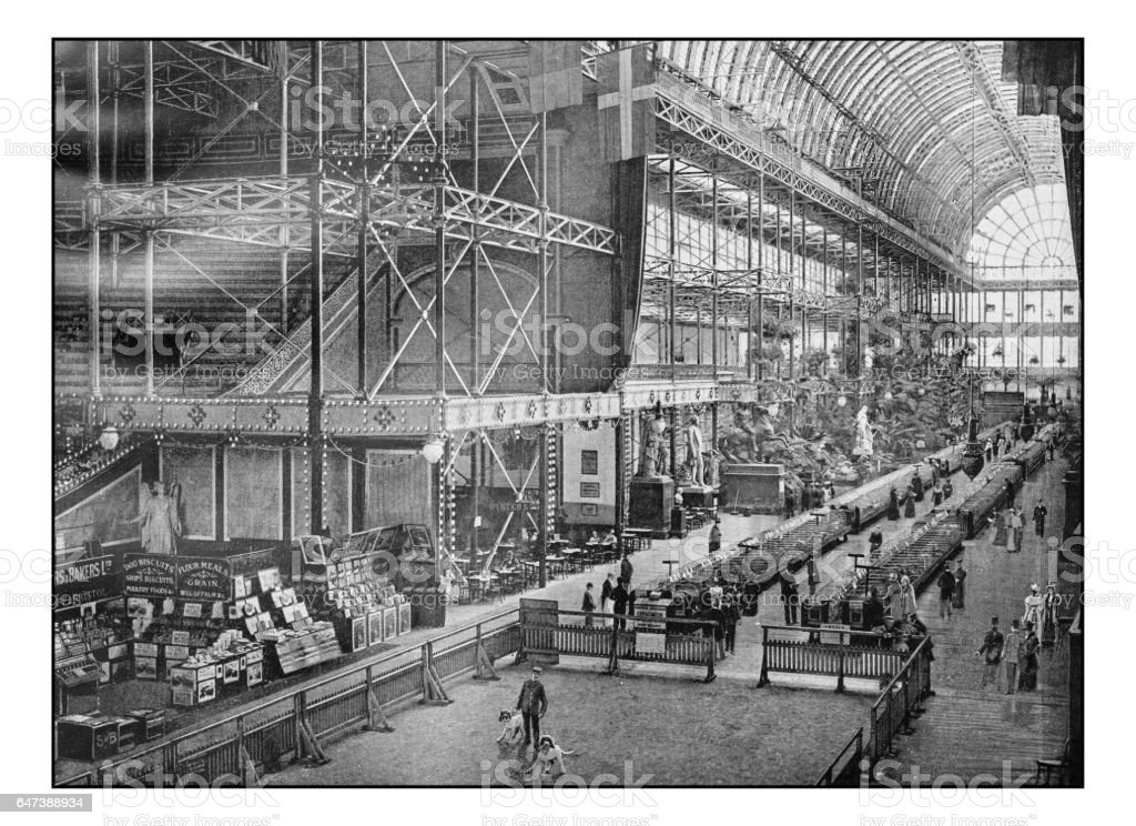 Antique London's photographs: Dog show at the Crystal Palace stock photo