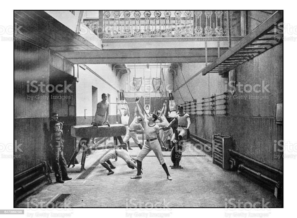 Antique London's photographs: Exeter Hall Gymnasium stock photo