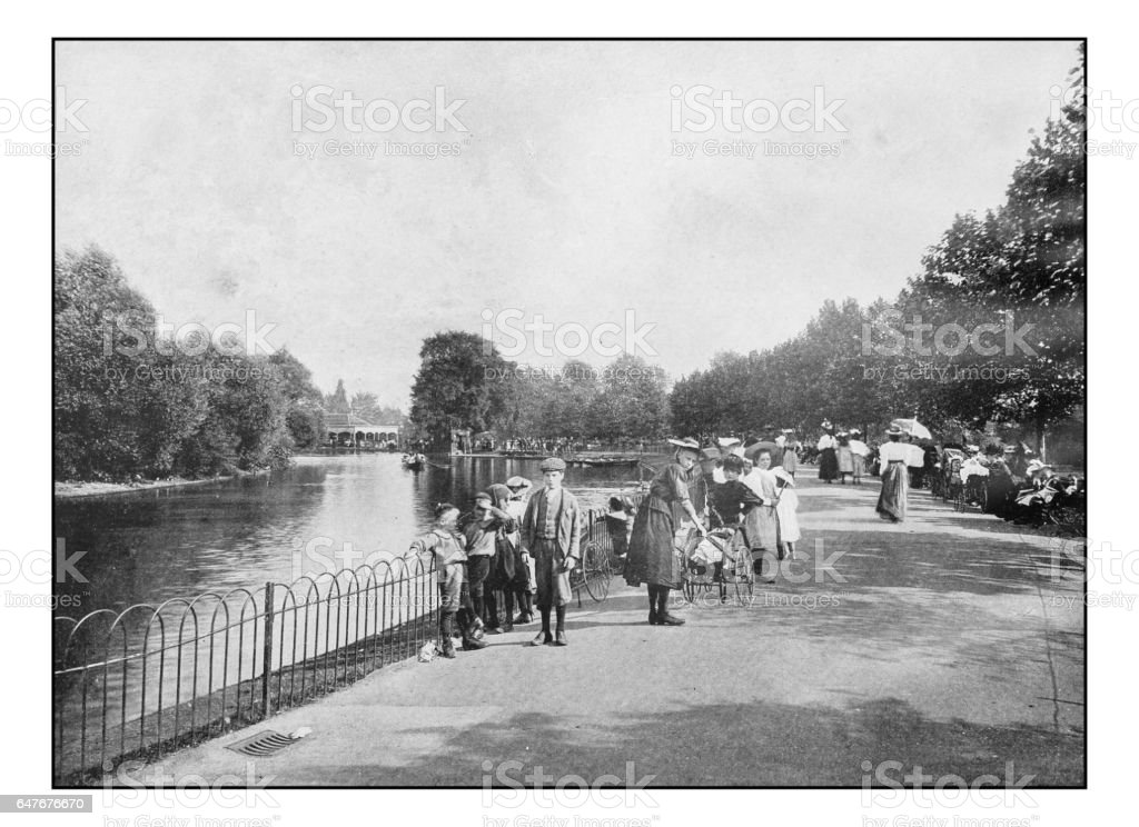 Antique London's photographs: Finsbury Park stock photo
