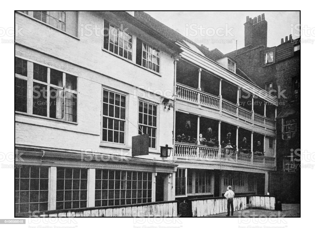 Antique London's photographs: George Inn, Borough stock photo