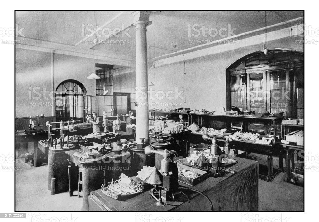 Antique London's photographs: Goldsmith Hall, The Assay Office stock photo
