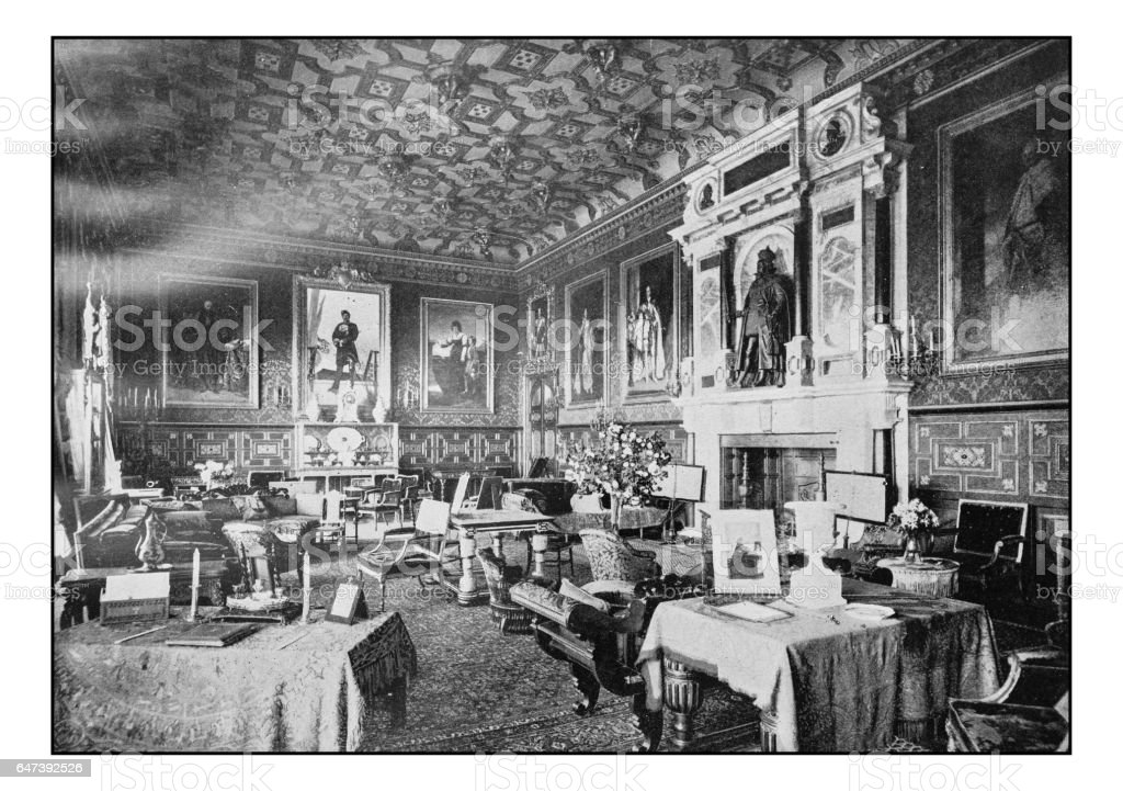 Antique London's photographs: Hatfield House, King James Drawing room stock photo