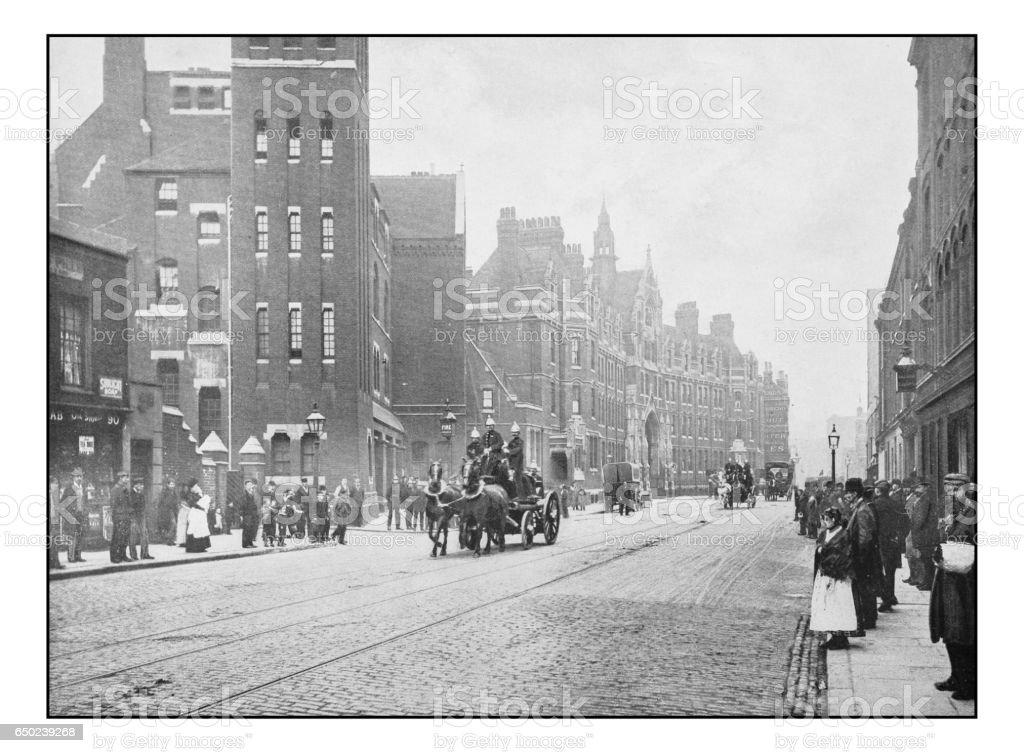 Antique London's photographs: Headquarters of the metropolitan fire brigade stock photo