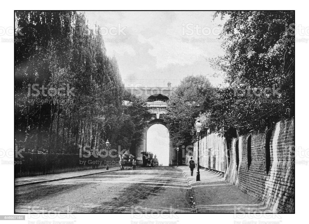 Antique London's photographs: Highgate Archway stock photo