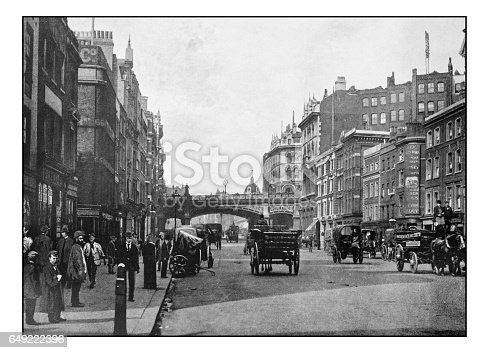 Antique London's photographs: Holborn viaduct, Farringdon Street