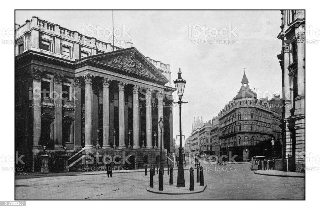 Antique London's photographs: Mansion house stock photo