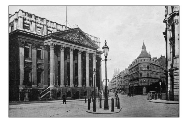 Antique London's photographs: Mansion house Antique London's photographs: Mansion house early 20th century stock pictures, royalty-free photos & images
