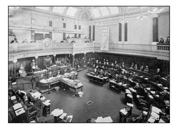 Antique London's photographs: Meeting of the London County Council Antique London's photographs: Meeting of the London County Council 1890 stock pictures, royalty-free photos & images