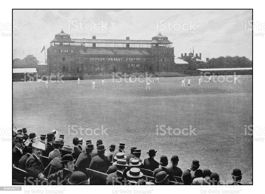 Antique London's photographs: Middlesex versus Surrey at Lord's Cricket ground stock photo