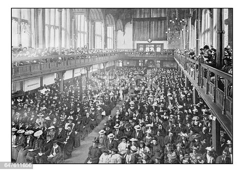 Antique London's photographs: Missionary meeting in Church House, Westminster