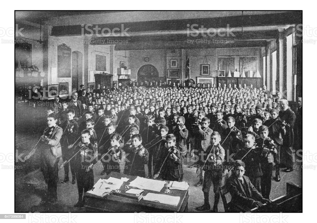 Antique London's photographs: Music School stock photo