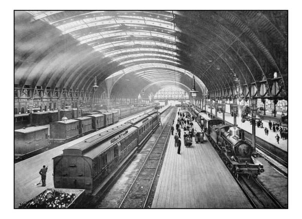 Antique London's photographs: Paddington Station stock photo