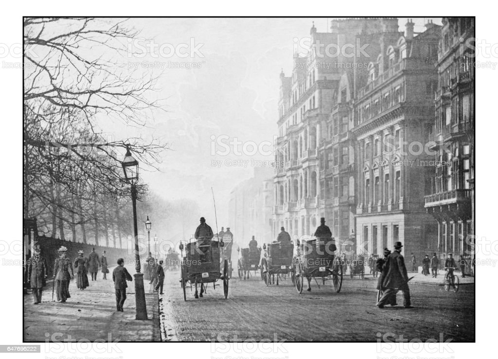 Antique London's photographs: Piccadilly stock photo