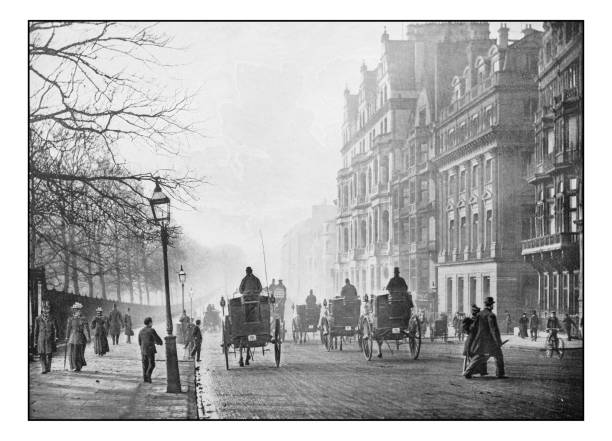 Antique London's photographs: Piccadilly Antique London's photographs: Piccadilly 1890 stock pictures, royalty-free photos & images