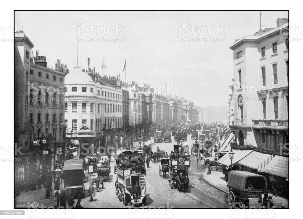 Antique London's photographs: Regent Street stock photo