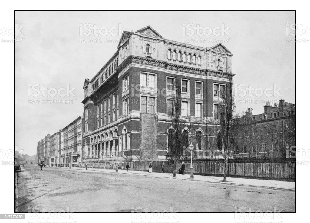 Antique London's photographs: Royal College of Science, South Kensington stock photo