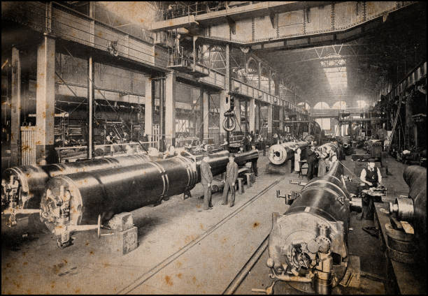 Antique London's photographs: Royal gun factory, Woolwich Arsenal stock photo