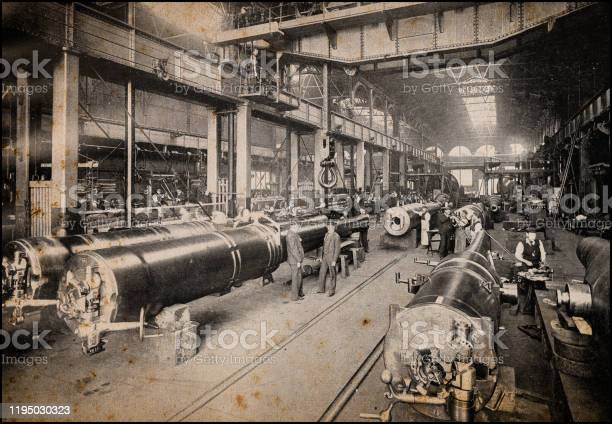 Antique Londons Photographs Royal Gun Factory Woolwich Arsenal Stock Photo - Download Image Now