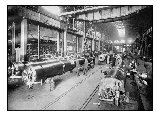 antique london's photographs: royal gun factory, woolwich arsenal - archival stock photos and pictures