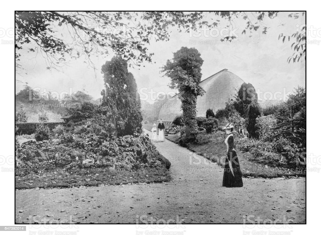 Antique London's photographs: Royal Horticultural Gardens, Chiswick stock photo