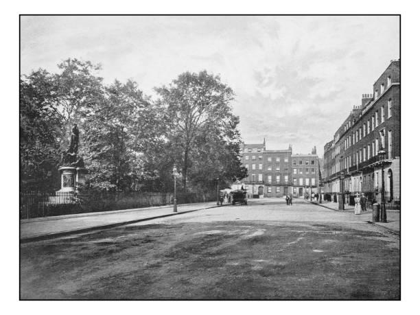 Antique London's photographs: Russel Square stock photo