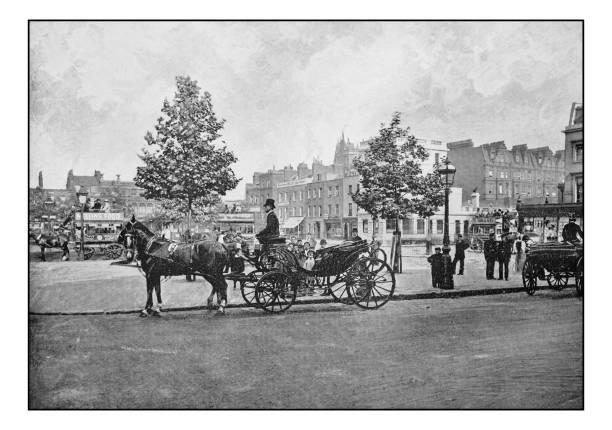 antike londons fotos: sloane square - pferdekutsche stock-fotos und bilder