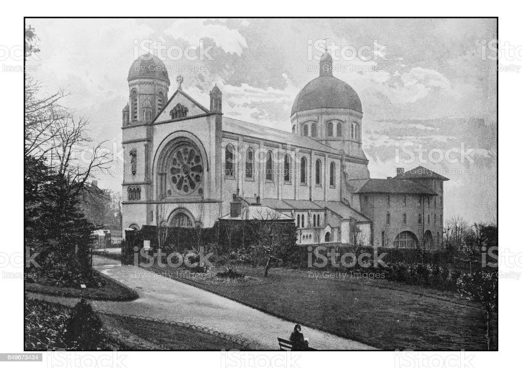 Antique London's photographs: St Joseph retreat, Waterlow Park, Highgate stock photo