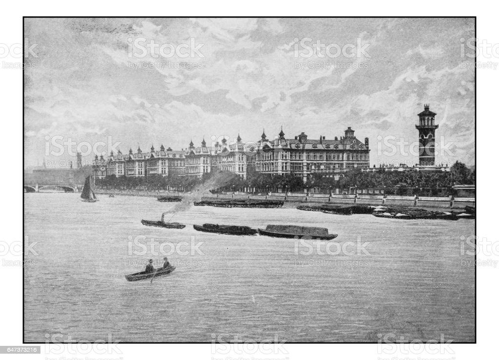 Antique London's photographs: St Thomas Hospital stock photo