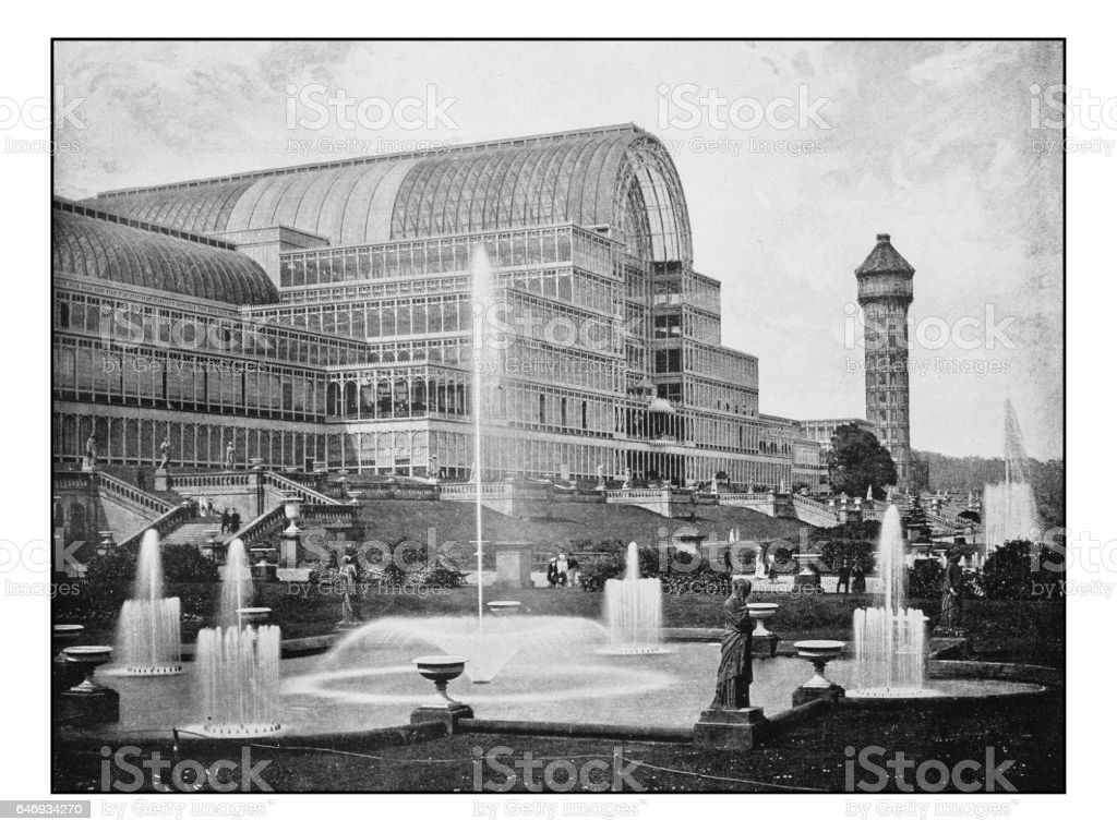Antique London's photographs: The Crystal Palace stock photo