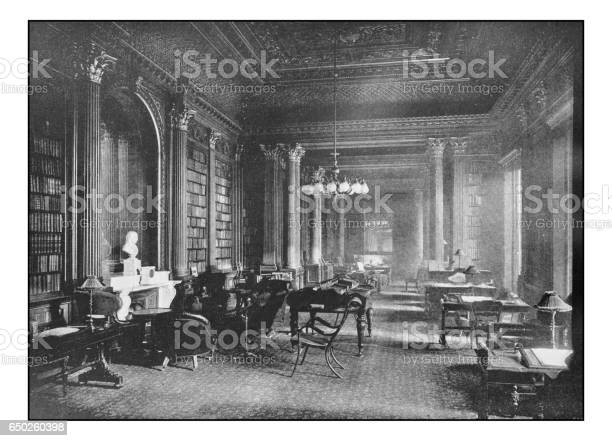 Antique Londons Photographs The Reform Club The Library Stock Photo - Download Image Now