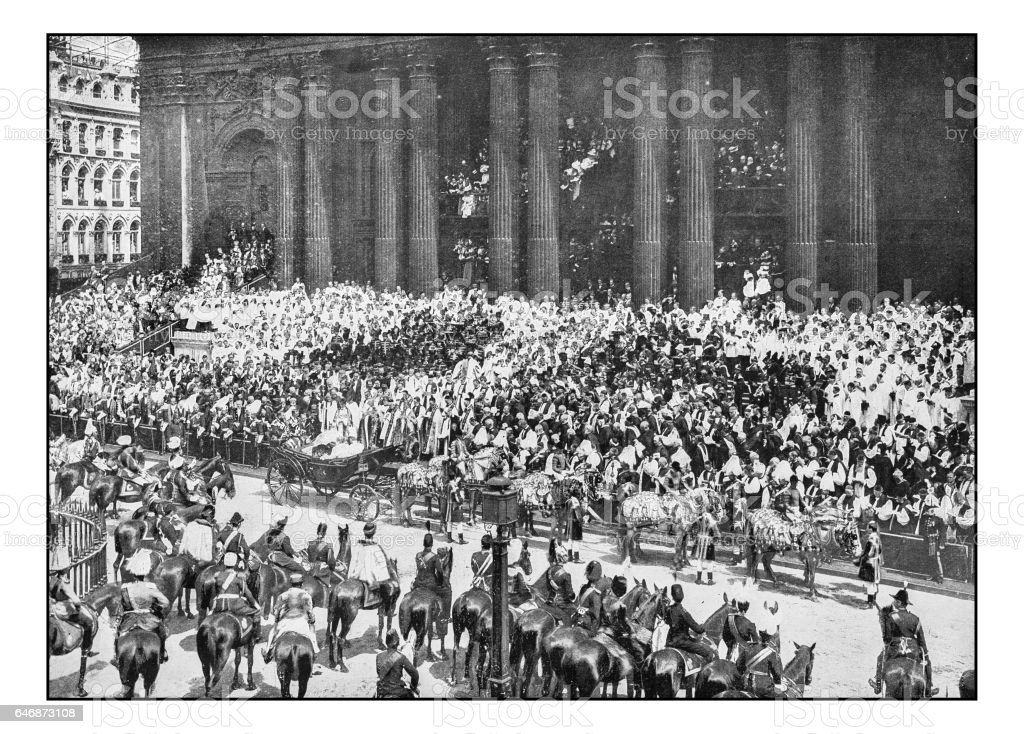 Antique London's photographs: The thanksgiving service stock photo