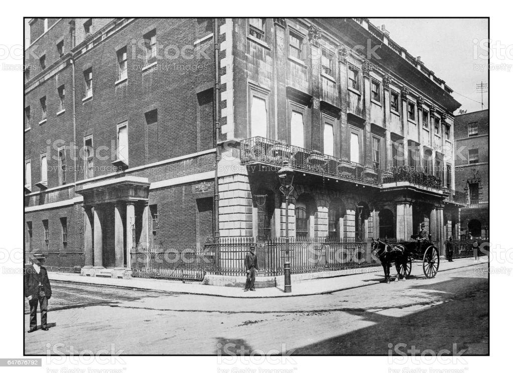 Antique London's photographs: Uxbridge house stock photo
