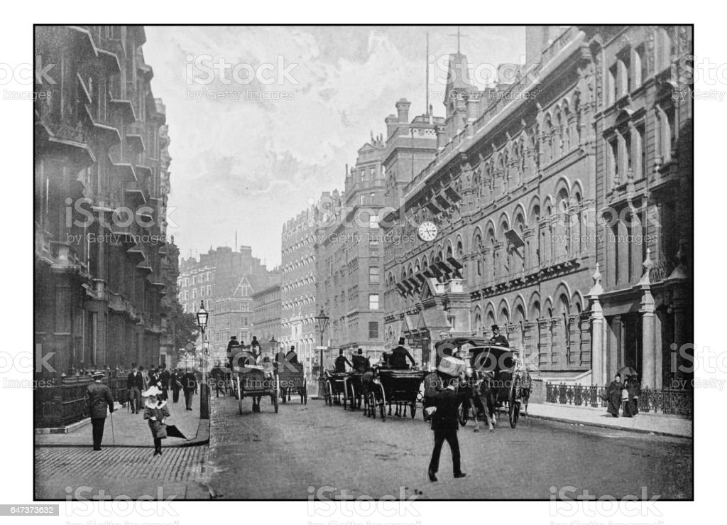 Antique London's photographs: Victoria Street, Westminster stock photo
