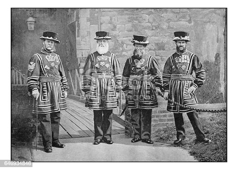 Antique London's photographs: Warders of the guard