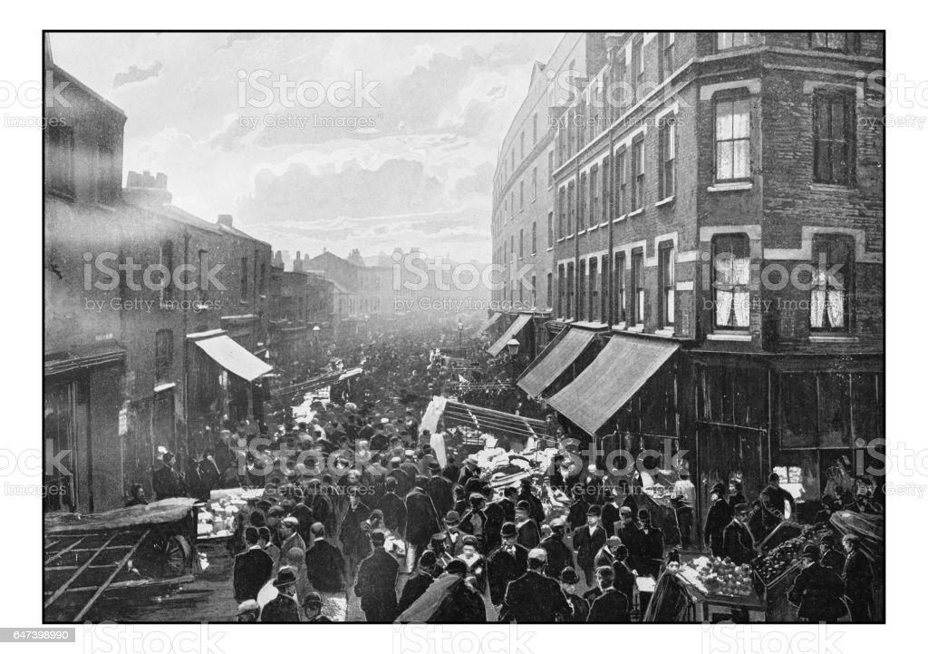 Antique London's photographs: Wentworth Street stock photo