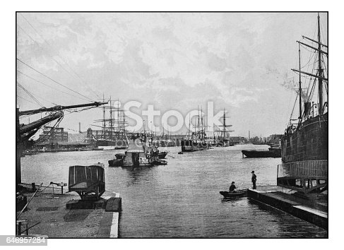 Antique London's photographs: West India import dock