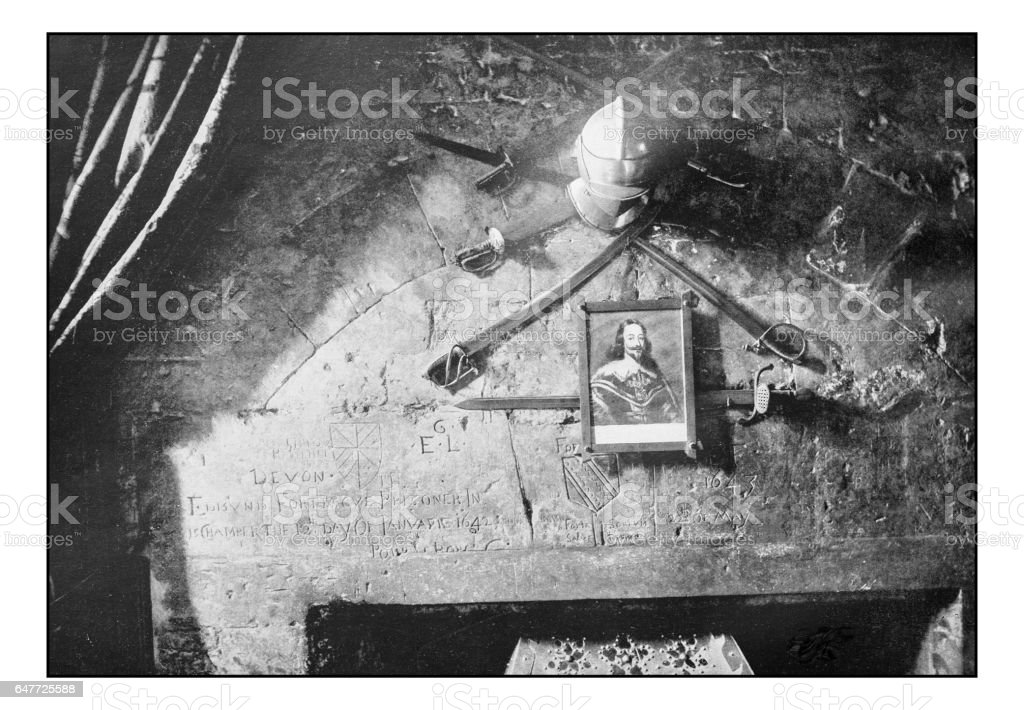 Antique London's photographs: Windsor, Prison Chamber stock photo