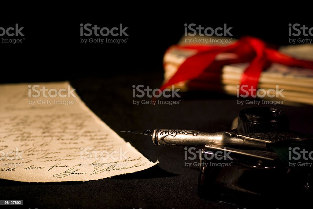 Antique Love Letter royalty-free stock photo