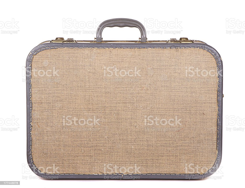 Antique luggage or suitcase royalty-free stock photo