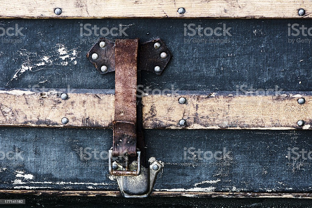 Antique Luggage Strap royalty-free stock photo