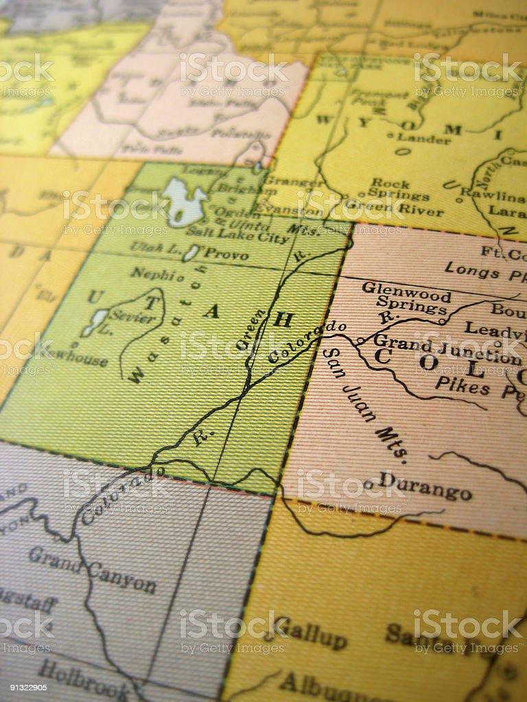 Colorado Karte Fluss.Antike Karte Colorado River Stockfoto Und Mehr Bilder Von