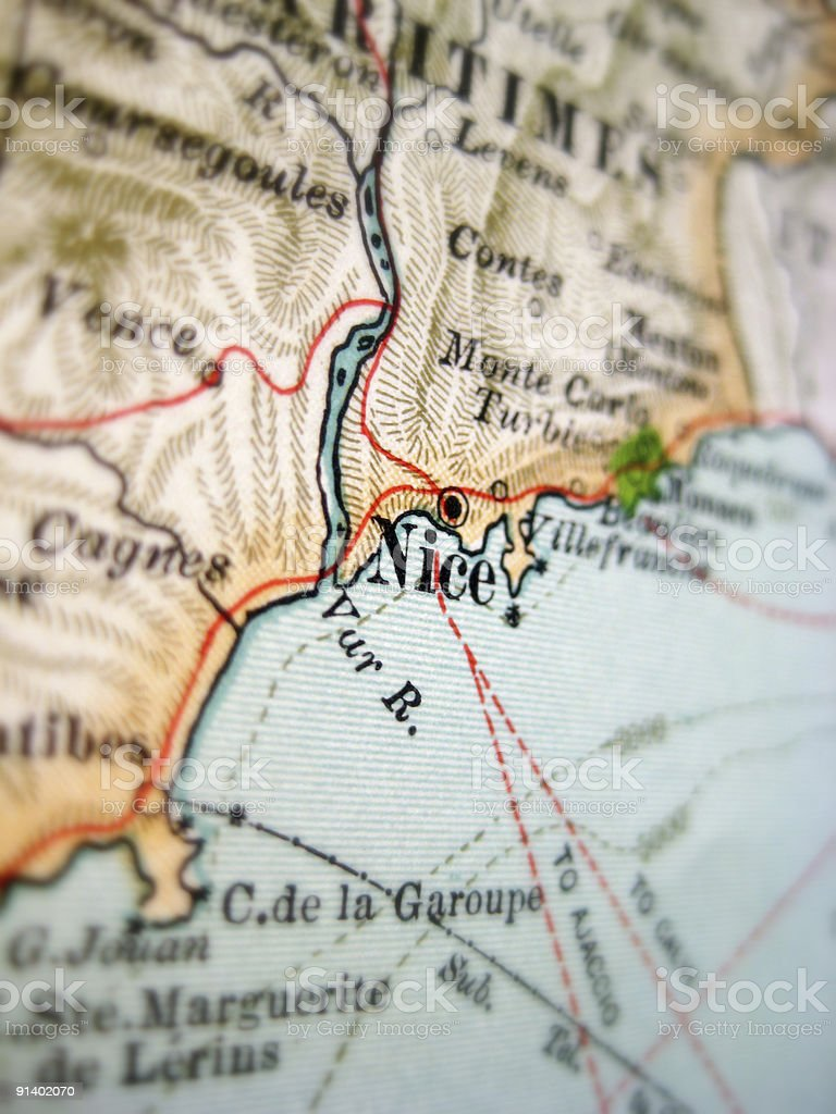 Antique Map Nice royalty-free stock photo