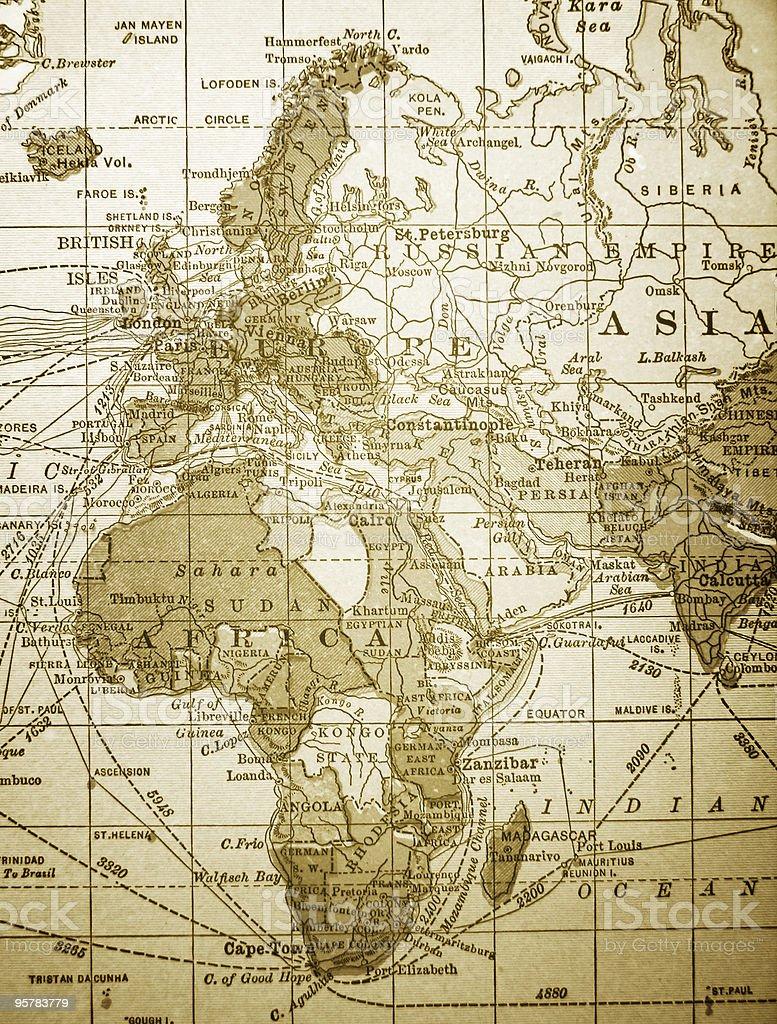 Cartina Europa E Medio Oriente.Antica Mappa Dellafrica Europa E Medio Oriente Fotografie Stock E Altre Immagini Di Africa Istock